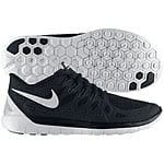 Nike Men's Free 5.0 Running Sneakers (Black/White) - $59.98 + Free Shipping