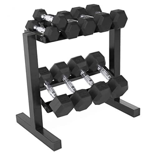 CAP Barbell 150-lb Rubber Hex Dumbbell Weight Set w/ Stand $139.99 w/coupon
