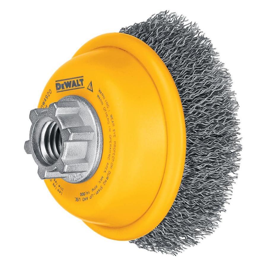DEWALT DW4920 3-Inch by 5/8-Inch-11HP Crimped Cup Brush/Carbon Steel .014-Inch $6.18