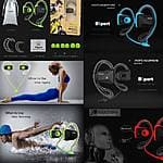 Bluetooth Wireless Sports Stereo Waterproof Swimming Headsets Earphone $21.79