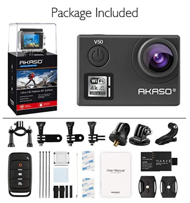 AKASO V50 Native 4K/30fps 20MP WiFi Action Camera $87.99