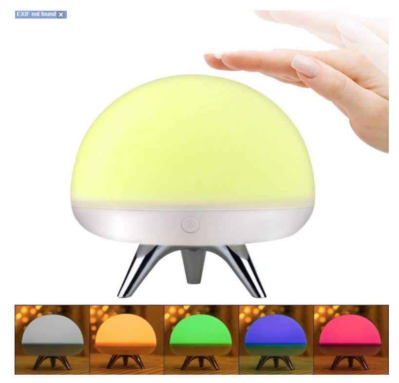 Silicone Colorful Children Night Light USB Rechargeable Tap Control Beside LED Table Lamp Warm White, Singleand 7-Color Breathing Mode for Baby Room, Nursery $14.94