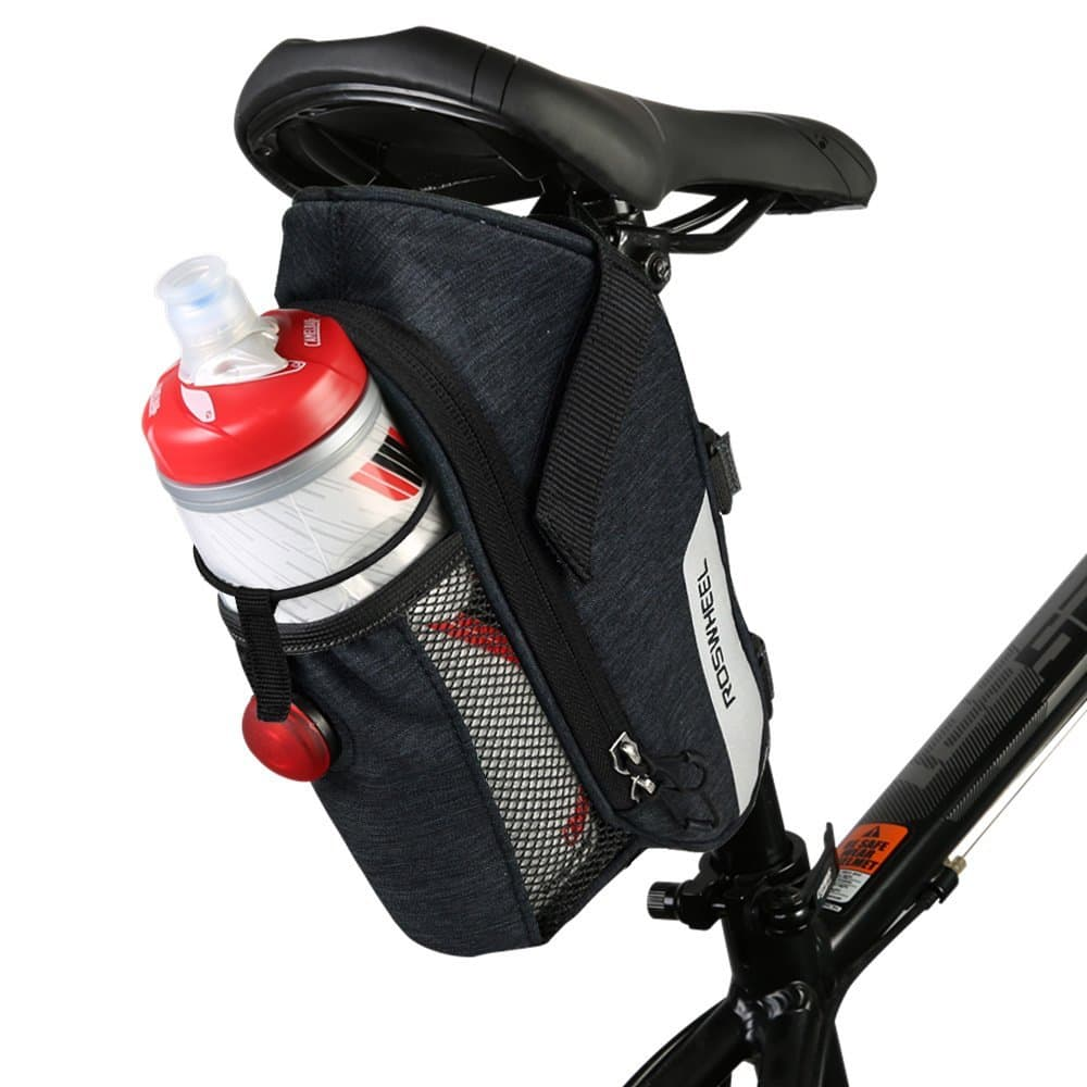 allnice Bike Saddle Bag, 1.8L Waterproof Bike Seat Mountain Road MTB Bicycle Saddle Bag with Tail Light, Bicycle Repair Tools Pocket Riding Cycling $19.49