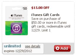 $50 iTunes Gift Card for $35 or less - Safeway B&M (Club Card Required)