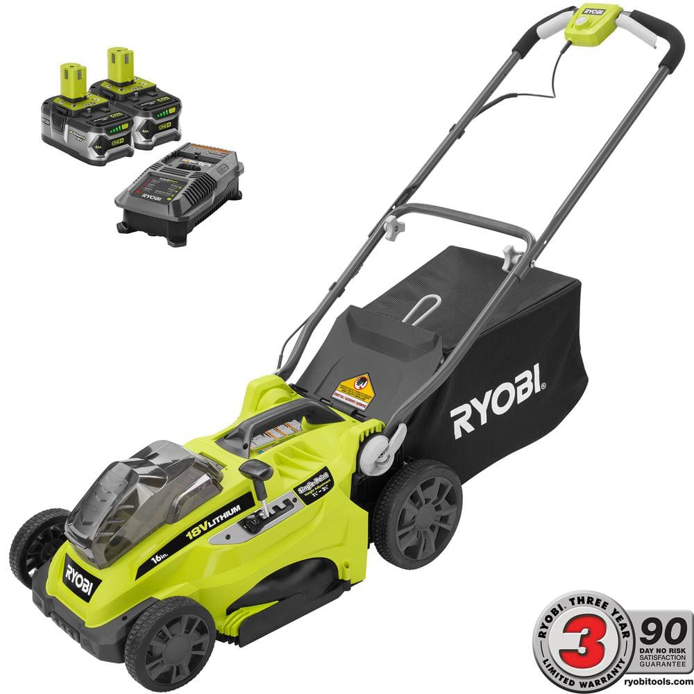 Ryobi Spring Black Friday Savings on Ryobi lawn mowers - 18-Volt and 40-Volt, 4 models starting from $199
