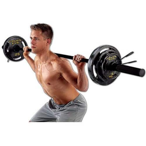 Walmart Gold's Gym Olympic Weight Set, 110 lbs $90 FS