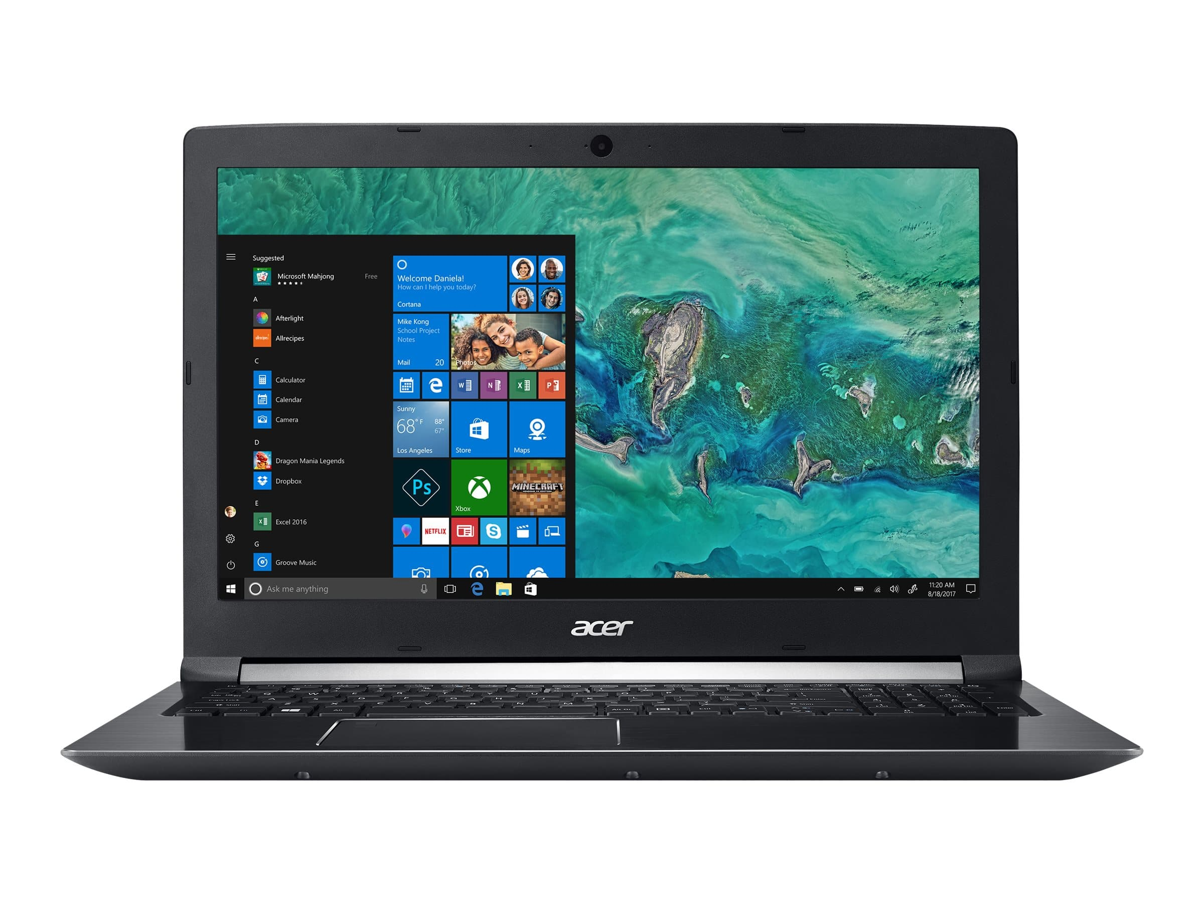 "Acer Aspire 7 A715-72G-79BH, 15.6"" Full HD, 8th Gen Intel Core i7-8750H, NVIDIA GeForce GTX 1050, 8GB DDR4, 1TB HDD, HDMI 2.0, Fingerprint Reader, Windows Hello, $599"