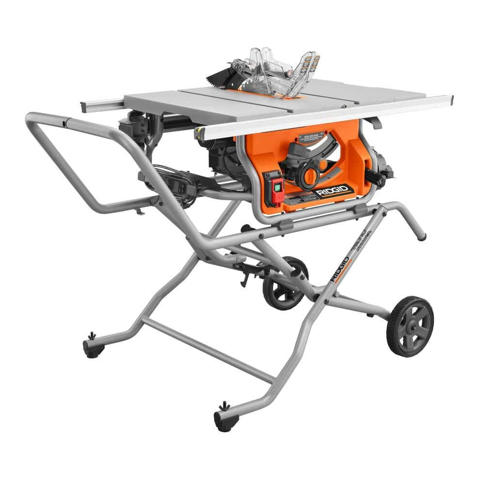Home Depot: Ridgid R4514 10 in. Pro Jobsite Table Saw with Stand $349 FS or Free Store Pick Up