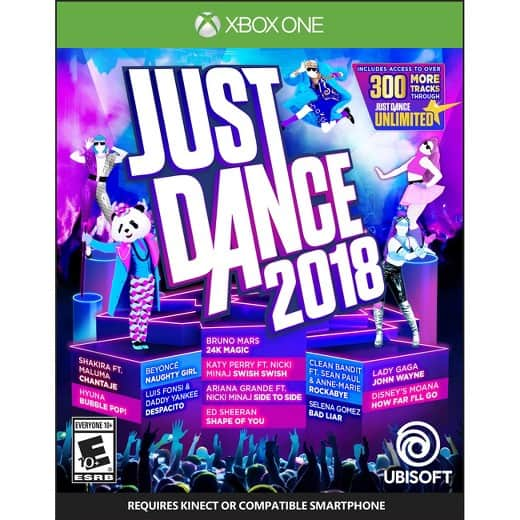 $30 - Just Dance 2018 for XB1/PS4/Nintendo free s/h + tax - BB and Target