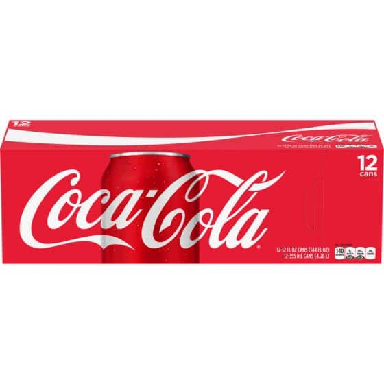 Coca-cola, Pepsi & Assorted soda 12 pack $2.85