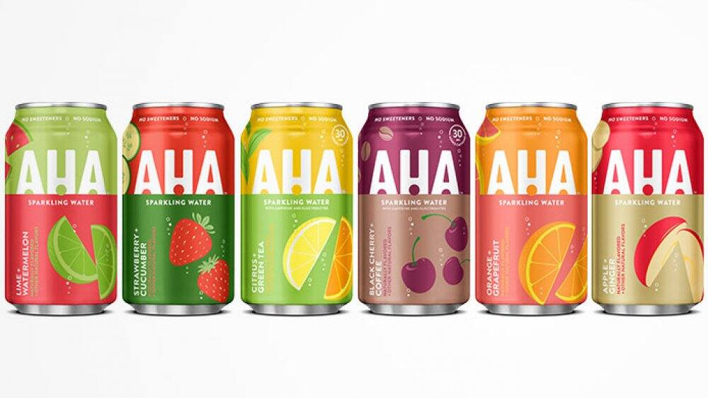 AHA sparkling water 8 pack 12 oz $2.53