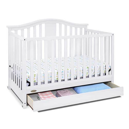 Graco Solano 4 in 1 Convertible Crib with Drawer White $159.41