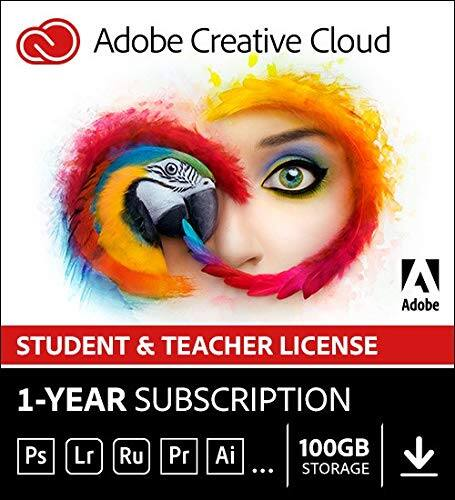 Adobe Creative Cloud (Full Suite) - Student/Teacher Version - 12 Months $191.90 @ Amazon