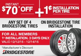 I bought 4 new Bridgestone Blizzak tires on Costco's online site, got a great price, and had great service when I got there. One key may be using the new appointment site at narmaformcap.tk().