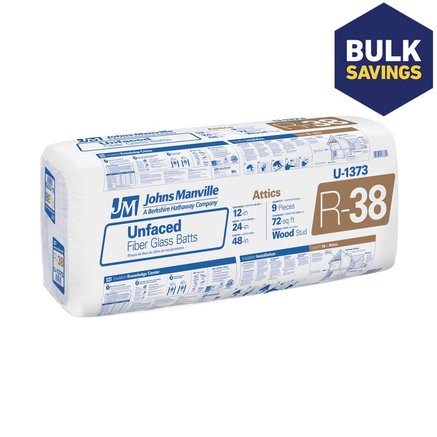 """Johns Manville R38 Insulation Batt 24""""x 48"""" on sale at Lowes - $39 per box compared to $79 previously.  May be local - YMMV"""