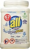 All Mighty Pacs Laundry Detergent, 134ct - $7.97 on Amazon.com (Add-on Item)
