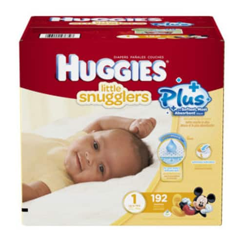 costco members huggies plus diapers 192 ct size 1. Black Bedroom Furniture Sets. Home Design Ideas