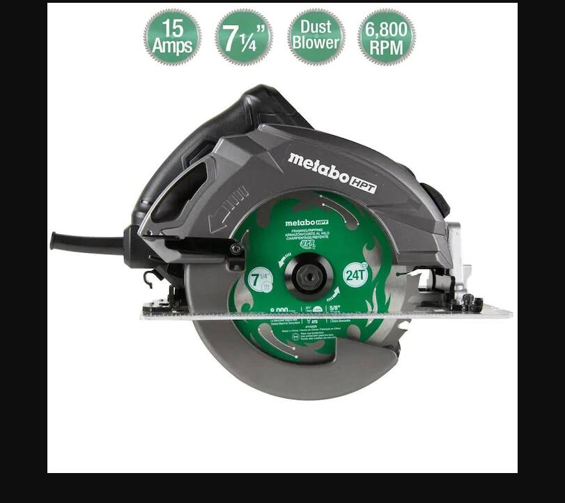 YMMV:-Lowes: Metabo HPT(was Hitachi Power Tools) Ripmax-7-1-4-in-Corded Circular Saw with Aluminum Shoe & Soft Case $74.5