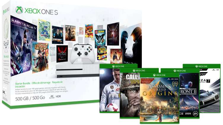 500GB Xbox One S Bundle (Various) and 2 Free Select Games - $229 after $20 Slickdeals PayPal Rebate