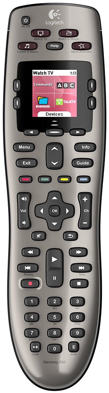 Logitech Harmony 650 Programmable Remote (Silver) $34.99