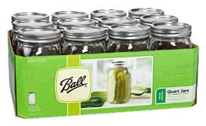 Jarden 52505 Wide Mouth Ball Canning Jar, 32-Ounce, Case of 12 For $8.99 @ Amazon