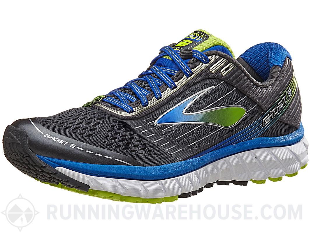 d2e46de540c09 Men s Brooks Ghost 9 Shoes (Anthracite Blue Lime) - Slickdeals.net
