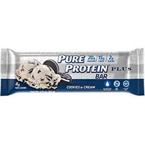 Pure Protein PLUS Bar - Cookies & Cream - $5.03/6pack - $4.28 w/S&S 15%
