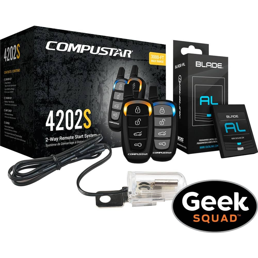 CompuStar 2-Way LED Vehicle Remote Starter Kit w/ Installation $270 + Free S/H BestBuy