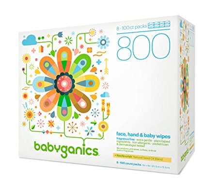 800 ct Babyganics Fragrance-Free Face Hand and Baby Wipes $12.37
