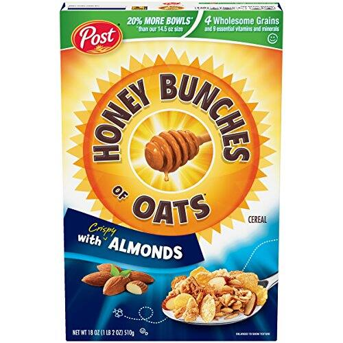 Post Honey Bunches of Oats with Crispy Almonds Cereal 18 oz. Box $2.34 with S&S