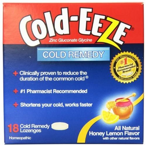Cold-EEZE Cold Remedy Lozenges Honey Lemon, 18 Count, Cold Remedy Lozenges, Pharmacist Recommended Zinc Lozenge, Shortens Colds [Honey Lemon] $4.79