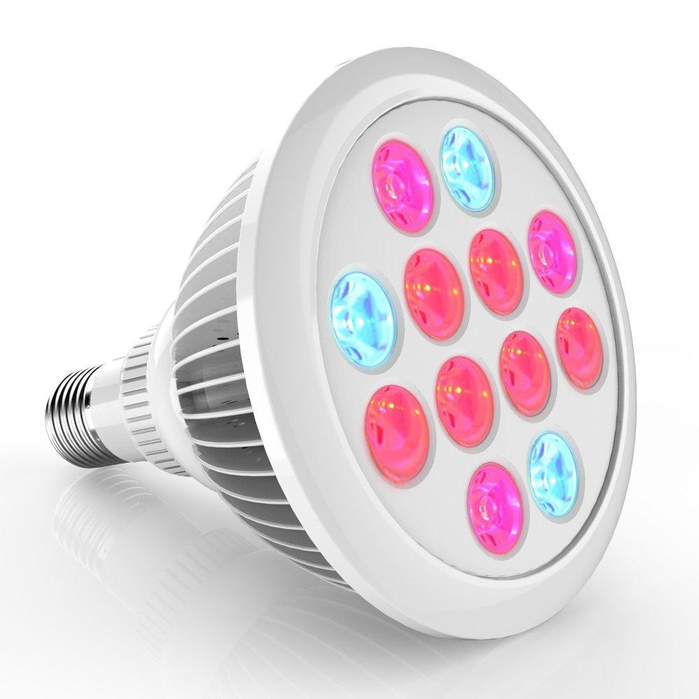 Erligpowht 24W  LED Grow Lights , E27 Growing Bulbs 3 Wavelengths $5.99+fss @amazon