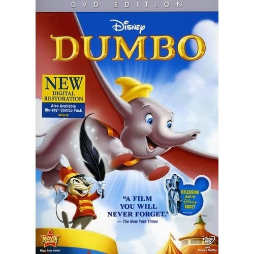 Prime Members: Dumbo Anniversary Edition: Blu-ray/DVD combo $9.99 at Amazon