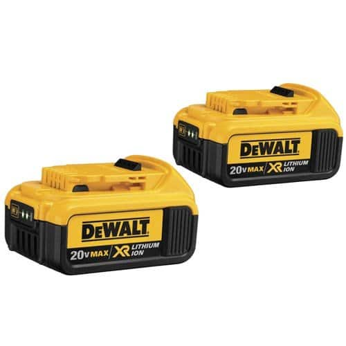 DEWALT DCB204-2 20V MAX XR 4Ah Li-Ion Battery 2-Pack $97.99 + FSSS