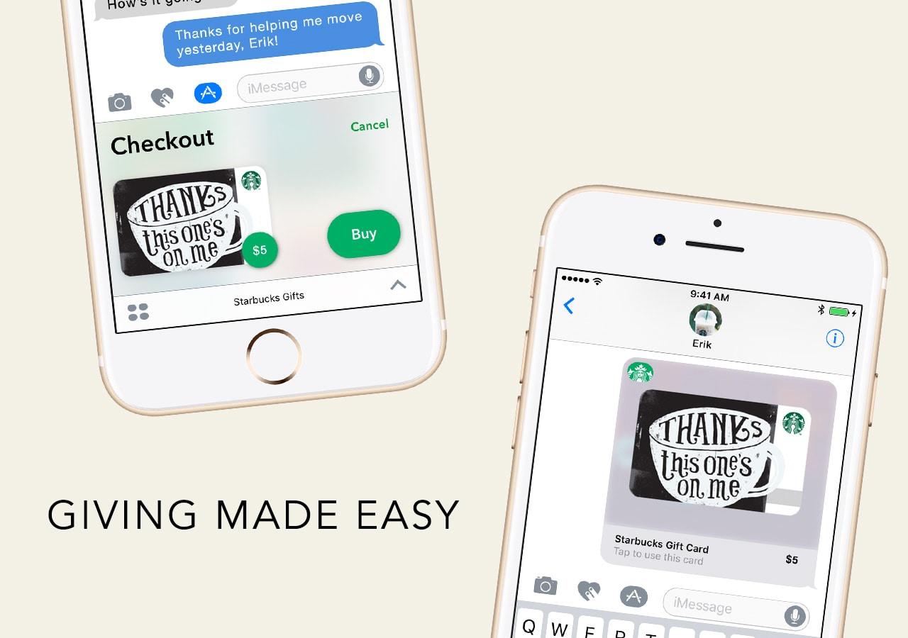 Starbucks App Send Starbucks EGift Card Via IMessage Get - Software to create invoices free download starbucks online store