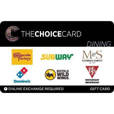 The Choice Card Dining Gift Card (email Delivery) : Target $85