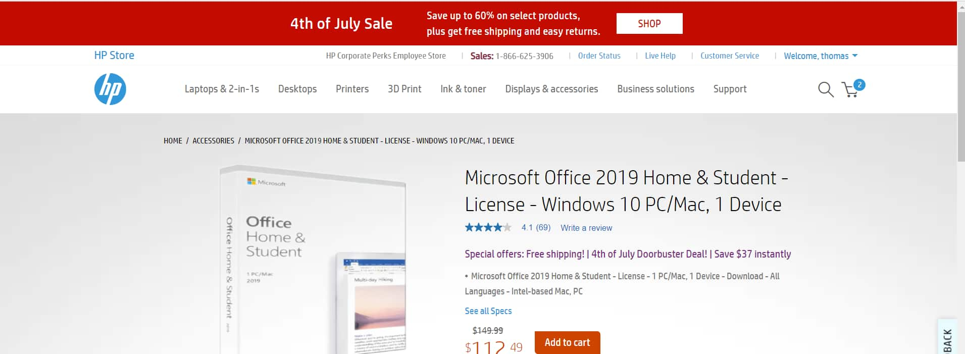 Microsoft office student home 2019 $112.49