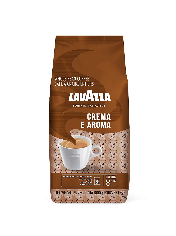 Lavazza Crema E Aroma Whole Bean Coffee Blend, Medium Roast, 2.2-Pound Bag - $10.85 AC & 15% S&S, $12.59 AC & 5% S&S at Amazon
