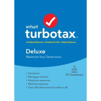 39.8 TurboTax Deluxe Fed + Efile + State 2019