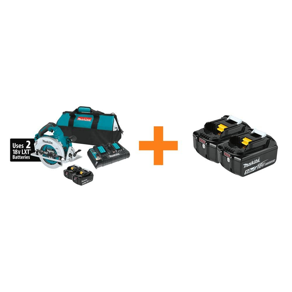 Back in Stock at Home Depot - 18-Volt X2 LXT (36-Volt) Brushless Cordless 7-1/4 in. Circular Saw Kit with four 5.0Ah Battery Pack $250