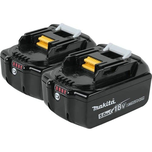 $126 at Amazon - 18-Volt LXT Lithium-Ion High Capacity Battery Pack 5.0Ah with LED Charge Level Indicator (2-Pack)