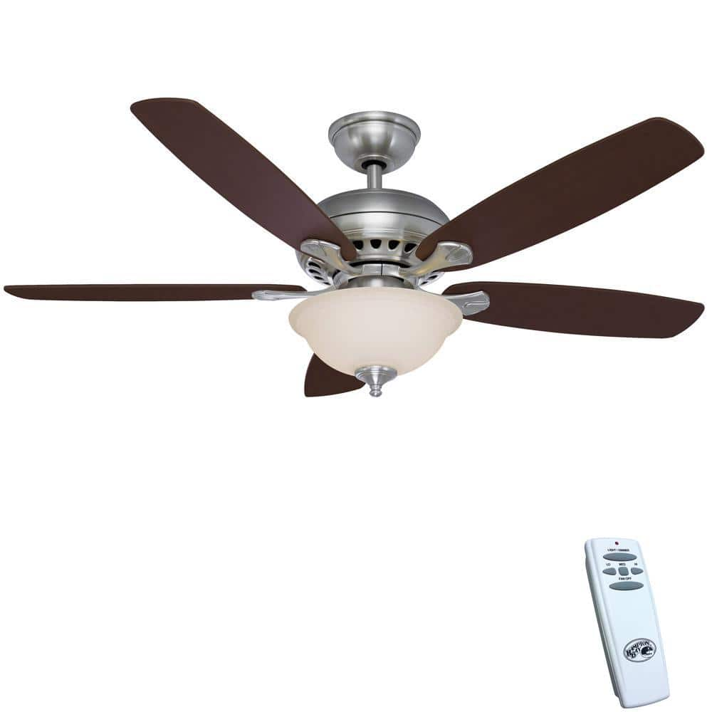 Hampton bay southwind 52 led indoor ceiling fan w light kit deal image aloadofball Image collections