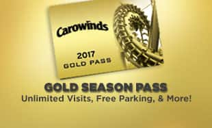 Carowinds 2017 Season Passes now on sale!  Gold =