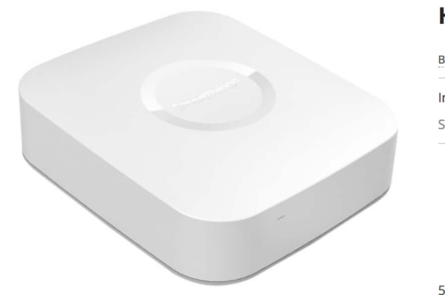 Samsung SmartThings Smart Home Hub (White) $49.99 + Free S/H (no tax in most states)