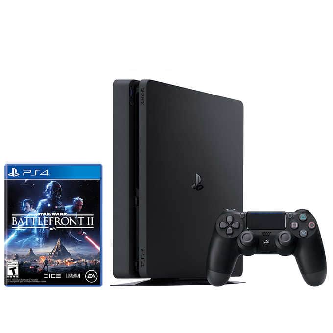PlayStation 4 Slim 1TB Console - Star Wars Battlefront II Bundle $214.99 + taxes when you apply $25 of $250 coupon