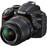Nikon D3200 Digital SLR Camera with 18-55mm NIKKOR VR Lens