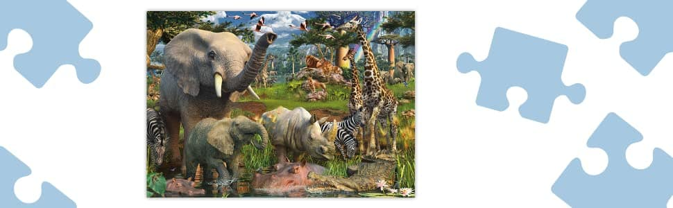 Ravensburger at The Waterhole - 18000 Piece Jigsaw Puzzle  -  $103.54