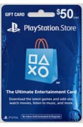 $50 PlayStation store card $23.50 f/s (Google express)