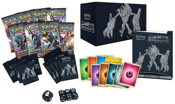 Pokemon Sun Moon Burning Shadows Trading Card Game Elite Trainer Box $32 ($30.40 with Red Card) $31.99