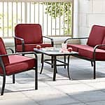 Essential Garden Bisbee 4 Piece Outdoor Casual Seating Set $290 AC + free in-store pickup at KMart